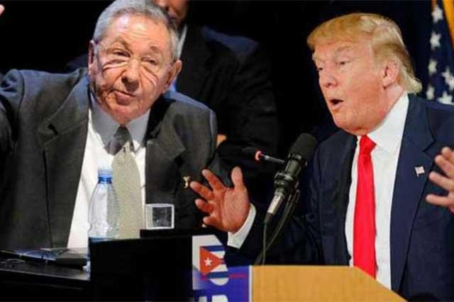 Trump mantendrá el embargo comercial y financiero contra Cuba