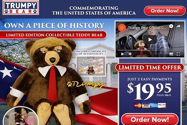 Lanzan el Trumpy Bear, un oso de peluche inspirado en Donald Trump