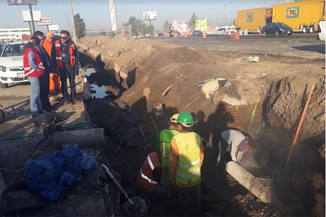Pinfra vuelve a dañar tuberías y deja sin agua a colonias del sur de Puebla