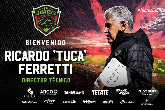 Oficial: Juárez presenta a 'Tuca' Ferretti como su nuevo técnico