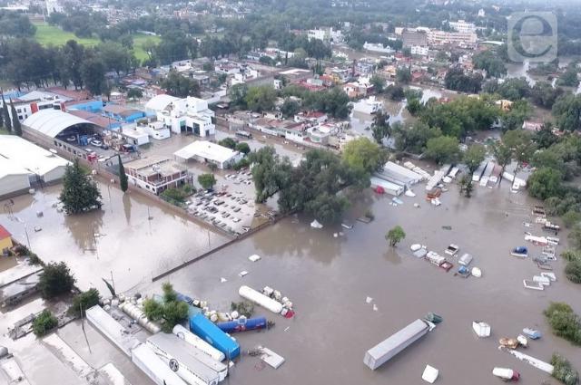 Desalojan a familias en Tula, Hidalgo, por crecida de río tras lluvias