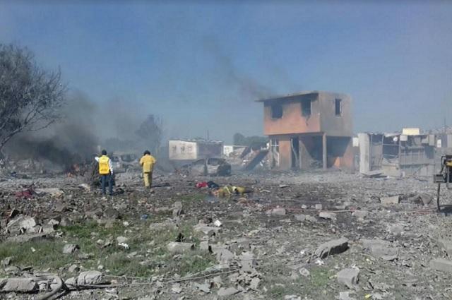 Explosión del polvorín en Tultepec deja un saldo de 12 muertos