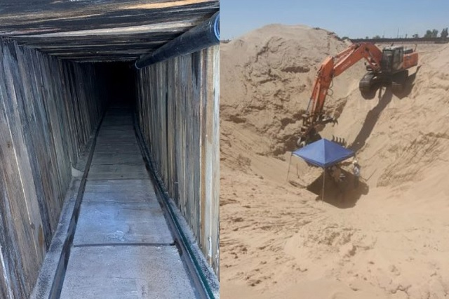 Mejor que el del 'Chapo': así es el túnel hallado en frontera México-EU