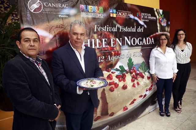 Zacatlán es la sede del Festival Estatal del Chile en Nogada