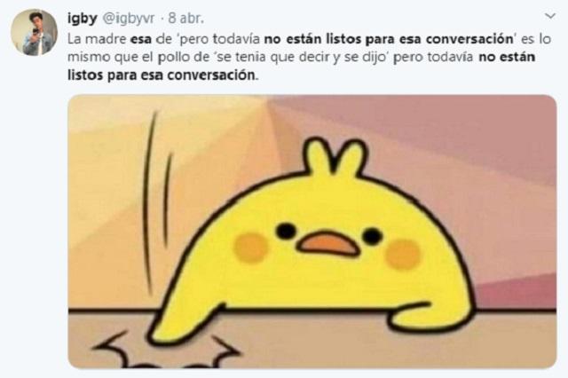 """""""NO ESTÁN LISTOS PARA ESA CONVERSACIÓN"""", la nueva tendencia en redes"""
