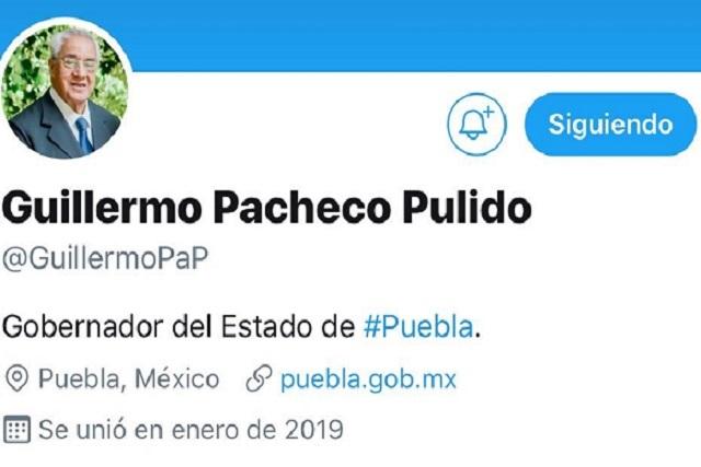 Confirman cuenta oficial de Twitter de Guillermo Pacheco Pulido
