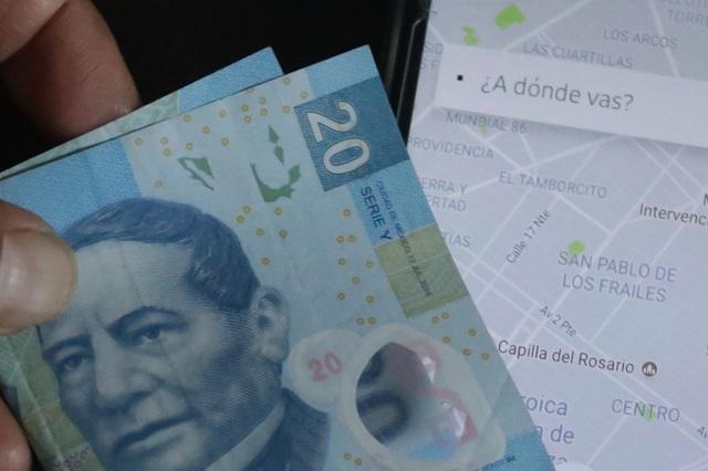 Hasta 6,448 pesos de multa a choferes UBER por cobrar cash