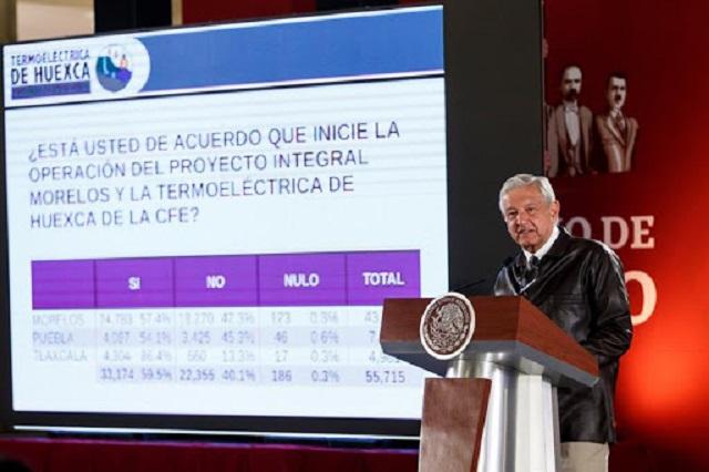 Sin trabas legales, termoeléctrica del Proyecto Integral Morelos: AMLO
