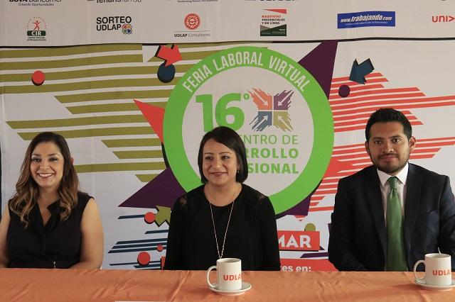 En Feria Laboral Virtual UDLAP, vacantes sin distingo de género