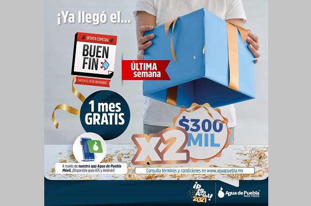 Agua de Puebla sigue promoción del Buen Fin hasta el 30 de noviembre