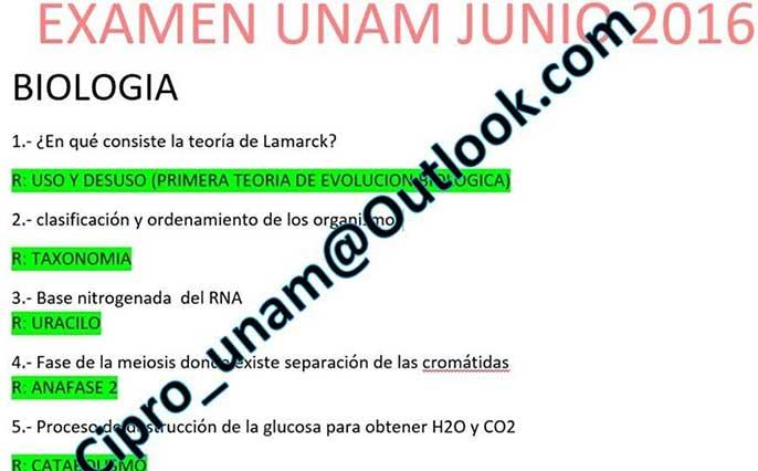 En Facebook ofrecieron las respuestas para el examen de ingreso a la UNAM