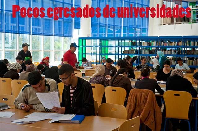 Pocos estudiantes se gradúan en universidades