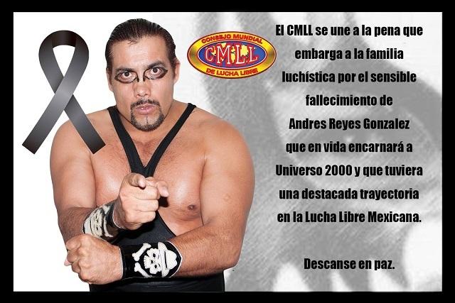 CMLL lamenta la muerte de Universo 2000