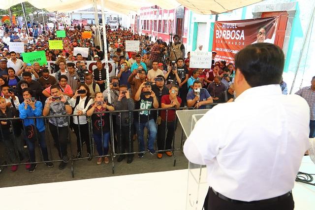 Nuevo gobierno irá al encuentro de la gente: Miguel Barbosa