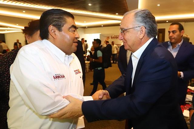 Ofrece Barbosa combate a la inseguridad desde el 3 de junio