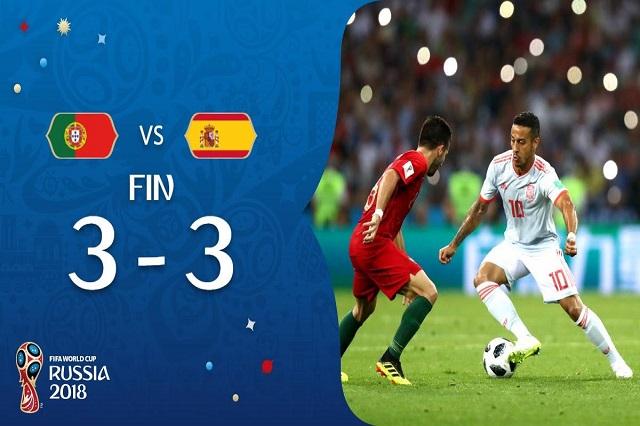 Cristiano salva a Portugal y anota 3 goles para empatar a España