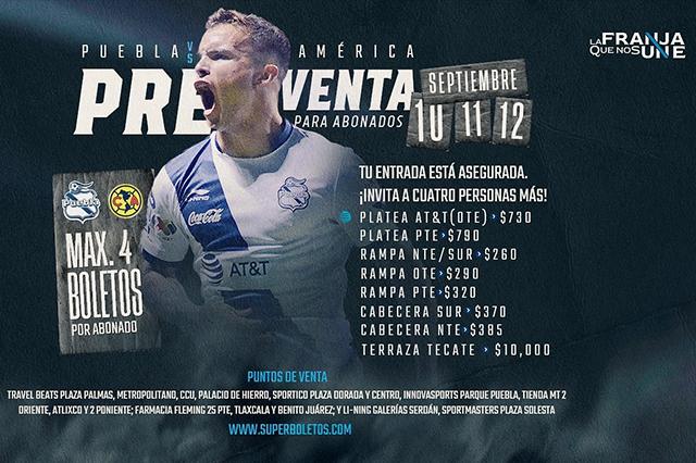 En 10 mil pesos, el boleto más caro para el Puebla-América