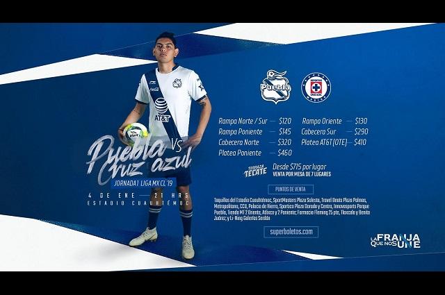 Hasta en 460 pesos boletos para el Puebla-Cruz Azul