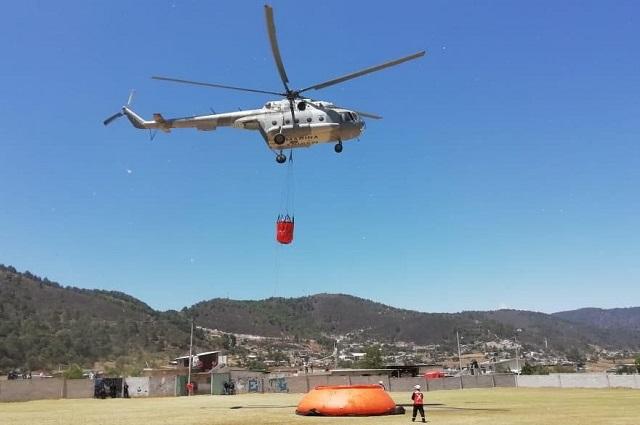 Atiende Protección Civil incendio forestal en Zautla