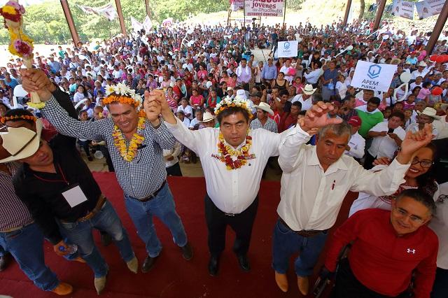 Reporta Barbosa 40 eventos en 26 municipios y 3 semanas de campaña