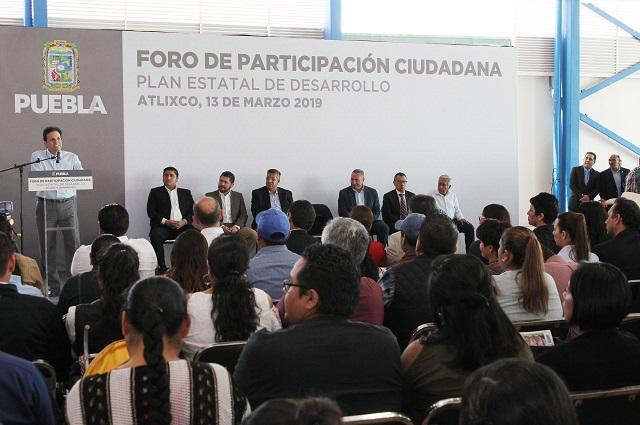 Plan estatal de desarrollo tendrá vocación ciudadana: Peniche García