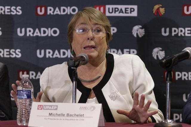 Elección de México fue ejemplar, dice Bachelet en la Upaep