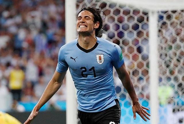 Doblete de Edinson Cavani le da la victoria a Uruguay sobre Portugal