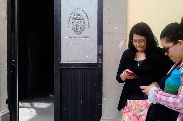 Registro Civil no funciona en la junta auxiliar de San Jerónimo Caleras