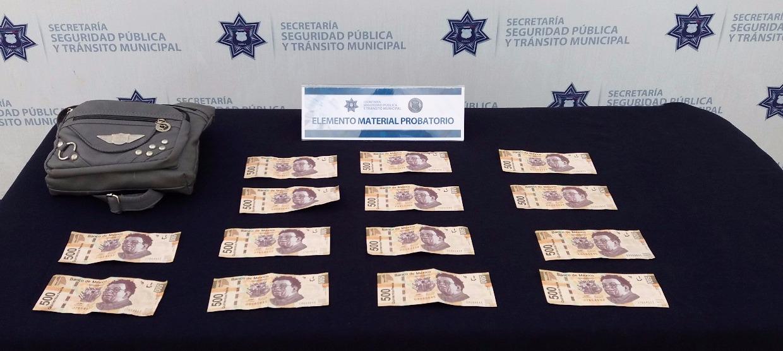 Cae pareja en Agua Santa con billetes falsos de 500 pesos