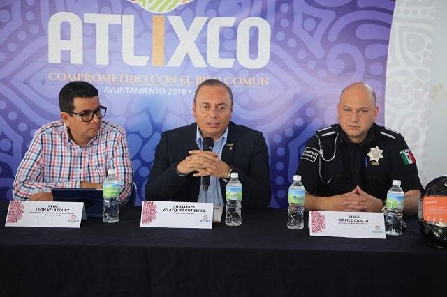 Ayuntamiento de Atlixco promueve el uso del casco para motociclistas