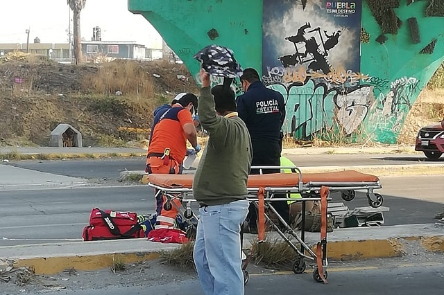 Fallece motociclista que cayó de un puente en el Periférico