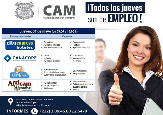 Empresas de diversos rubros ofertarán vacantes en el CAM