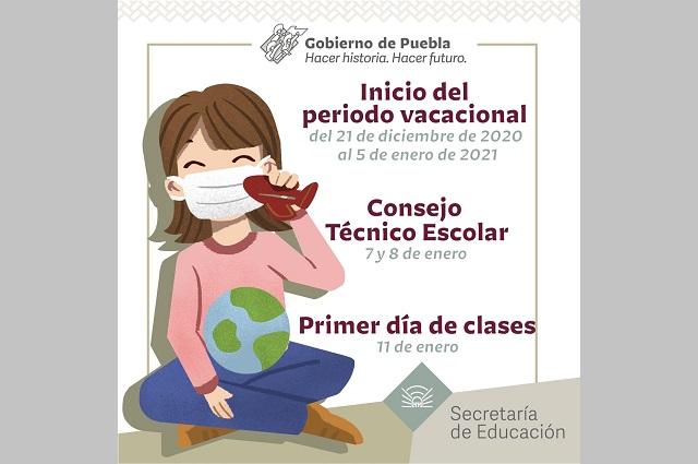 Vacaciones escolares en Puebla desde el 21 de diciembre: SEP
