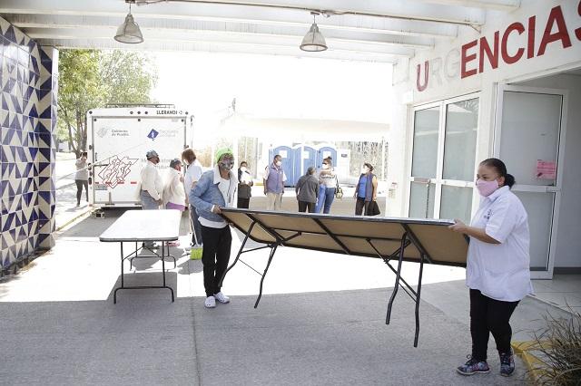 Listos, centros para segunda dosis anti Covid  en San Andrés Cholula