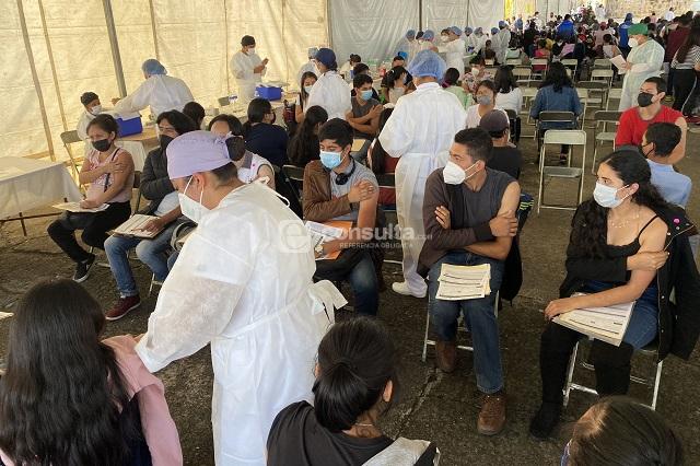 Falta por vacunar contra covid a 17 por ciento de los poblanos