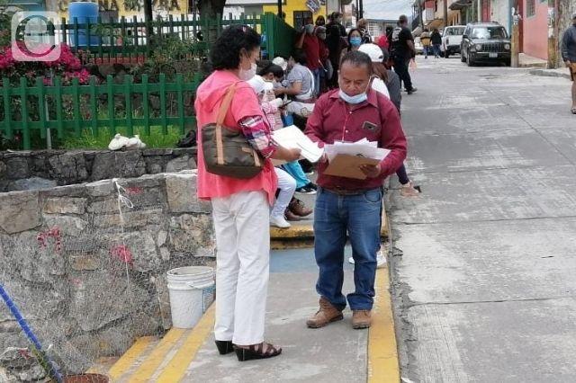 Aplica 2 mil vacunas contra Covid en IMSS de Zacapoaxtla