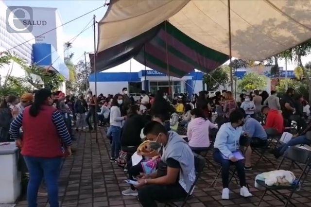 Se quedan esperando vacunas en Cuetzalan