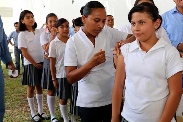 Aplicarán más de 40 mil vacunas contra papiloma humano en Puebla