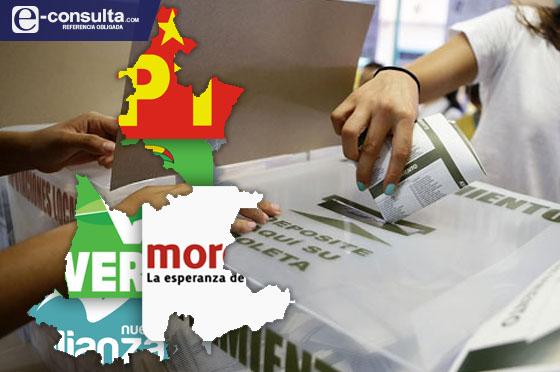 Afinan Morena, Panal, PT  y PVEM alianza electoral
