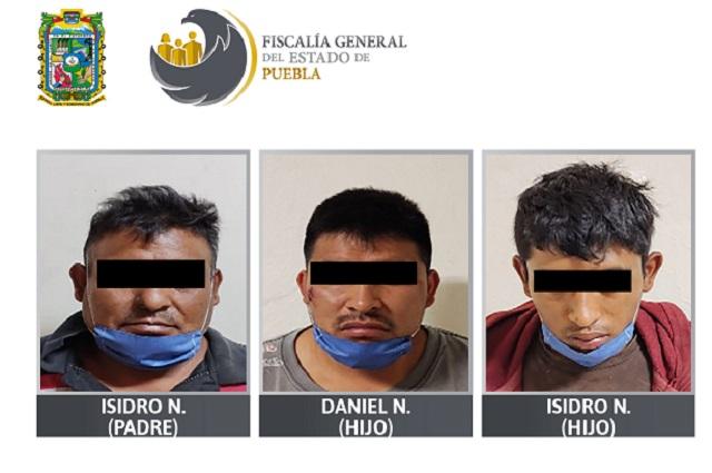 Padre e hijos van presos por homicidio calificado