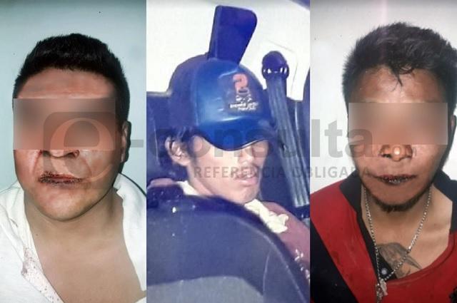 Vecinos retuvieron a tres ladrones en colonias de Puebla y Amozoc