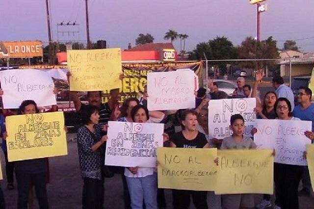 Vecinos de zona residencial de Mexicali rechazan albergue para migrantes