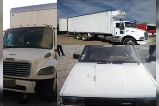 Policía Estatal recuperó tres vehículos con reporte de robo