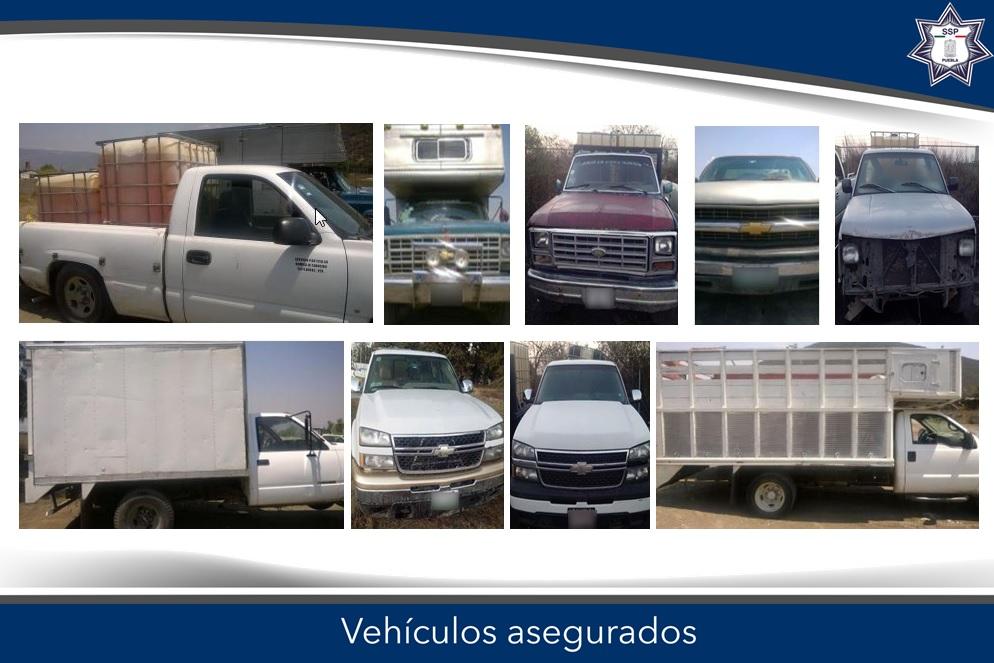 Asegura SSP 9 vehículos para el traslado de hidrocarburo robado
