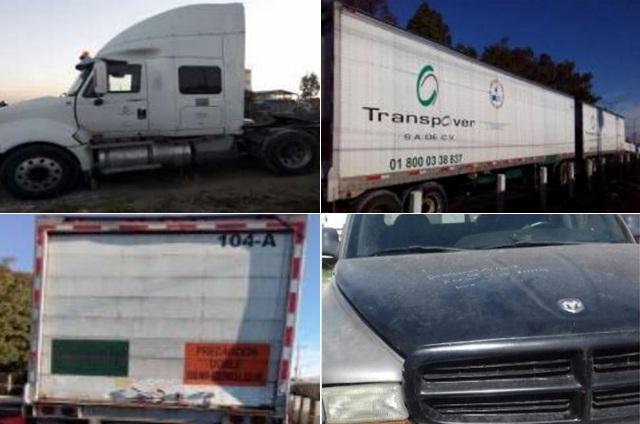 SSP aseguró dos vehículos y dos cajas secas
