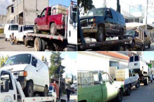 En operativo Fortaleza, Ejército y Policía Estatal aseguran 17 vehículos