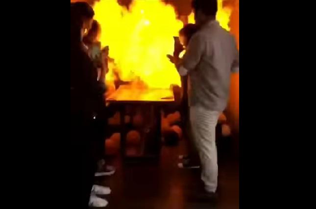 Vela en pastel de cumpleaños desata explosión y pudo terminar en tragedia