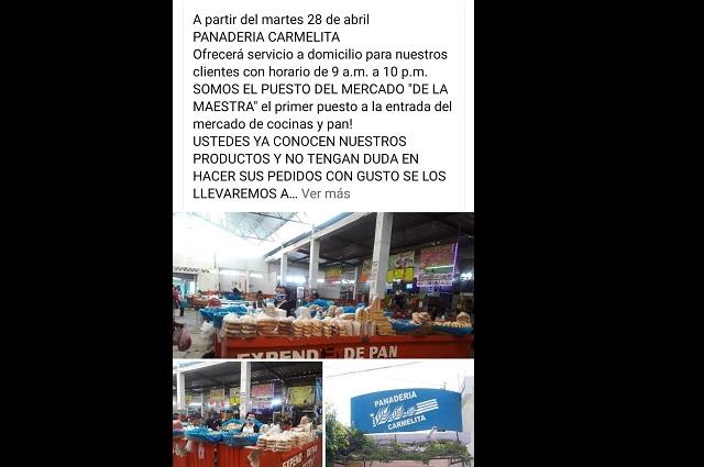 Comerciantes de Acatlán venden sus productos vía redes
