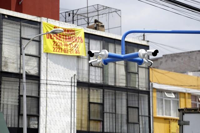 Sin operar 4 de cada 10 cámaras de seguridad en Puebla, reconocen