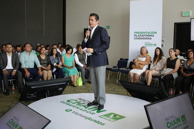 Exige líder nacional del PVEM salida de Carrancá por crímenes
